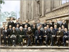 Obraz na szkle akrylowym  Fifth Solvay Conference, 1927 (colored)