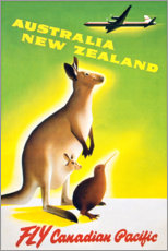 Premium-Poster  Australien, Neuseeland (englisch) - Travel Collection