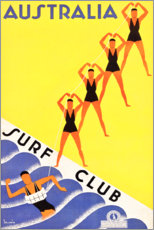 Premium-Poster  Australien, Surfclub (englisch) - Travel Collection