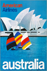 Premium-Poster  Australien (englisch) - Travel Collection