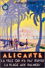 Acrylglasbild  Alicante (französisch) - Travel Collection