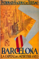 Premium-Poster  Barcelona (spanisch) - Travel Collection