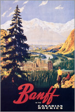 Premium-Poster  Banff (englisch) - Travel Collection