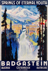 Premium-Poster  Bad Gastein (englisch) - Travel Collection