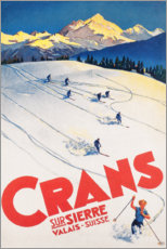 Premium-Poster  Crans-Montana (französisch) - Travel Collection
