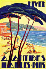 Premium-Poster  Winter in Antibes (Französisch) - Travel Collection