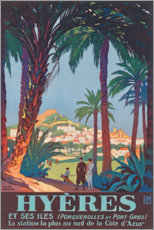 Premium-Poster  Hyeres (französisch) - Travel Collection