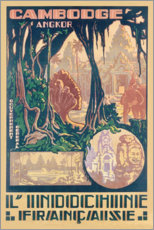 Premium-Poster  Angkor-Kambodscha (Französisch) - Travel Collection