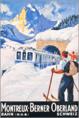 Premium-Poster  Montreux, Berner Oberland - Travel Collection