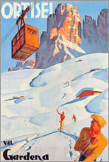 Premium-Poster  Ortisei - Val Gardena - Travel Collection