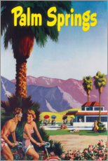 Premium-Poster  Palm Springs - Travel Collection