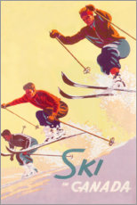 Premium-Poster  Ski in Kanada (englisch) - Travel Collection