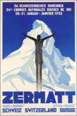 Premium-Poster  Zermatt - Travel Collection