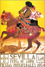 Premium-Poster  Sevilla (spanisch) - Travel Collection