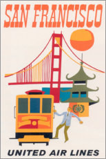 Acrylglasbild  San Francisco (englisch) - Travel Collection