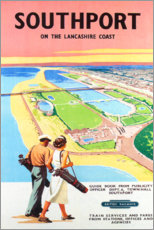 Premium-Poster  Southport Golf (englisch) - Travel Collection