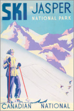 Premium-Poster  Ski in Jasper (englisch) - Travel Collection