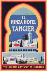 Leinwandbild  Minza Hotel Tangier (englisch) - Travel Collection