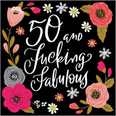 Wandsticker 50 and Fucking Fabulous