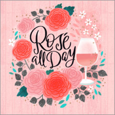 Premium-Poster Rosé All Day