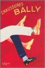 Premium-Poster  Bally Schuhe (französisch) - Advertising Collection