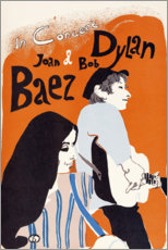 Leinwandbild  Bob Dylan und Joan Baez Konzert (englisch) - Entertainment Collection