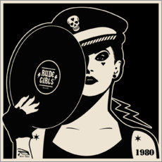 Hartschaumbild  Rude Girls Records I - dolceQ
