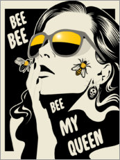 Premium-Poster Bee my queen