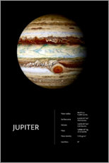 Wandsticker  Jupiter (englisch) - Art Couture