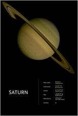 Wandsticker  Saturn (englisch) - Art Couture
