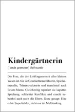 Wandsticker  Kindergärtnerin Definition - Pulse of Art