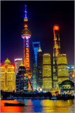 Premium-Poster  Wolkenkratzer in Shanghai - William Perry
