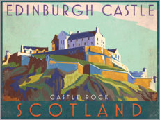 Premium-Poster  Edinburgh Castle - Jo Parry