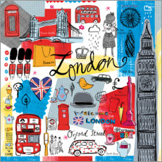 Gallery Print  Global Travel ? London - Farida Zaman