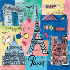 Acrylglasbild  Global Travel ? Paris - Farida Zaman