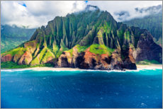 Leinwandbild  Kalalau Beach an der Na Pali Coast - Russ Bishop