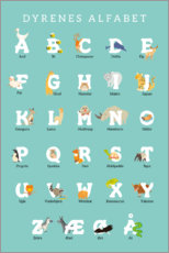 Premium-Poster  Tieralphabet (dänisch) - Kidz Collection