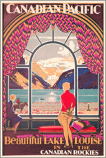 Holzbild  Lake Louise (englisch) - Kenneth Shoesmith