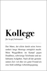 Premium-Poster  Kollege Definition - Pulse of Art