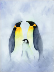 Gallery Print  Pinguinfamilie - Ray Shuell
