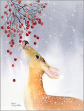 Wandsticker  Reh im Winter - Rachel McNaughton