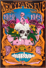 Premium-Poster  New Year's Eve concert, Grateful Dead - Entertainment Collection