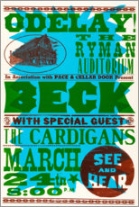 Premium-Poster  Beck With Special Guests, The Cardigans 1990s - Entertainment Collection