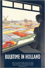 Premium-Poster  Tulpenzeit in Holland (englisch) - Travel Collection