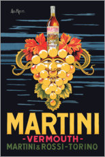 Hartschaumbild  Martini Werbeplakat - Advertising Collection