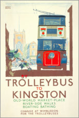 Acrylglasbild  Bus nach Kingston (englisch) - Gregory Brown