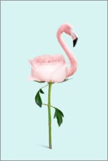 Premium-Poster Flamingo Rose