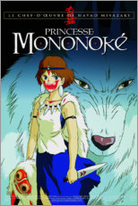 Leinwandbild  Prinzessin Mononoke (französisch) - Entertainment Collection