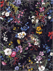 Leinwandbild  Florales Muster I - William Kilburn