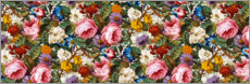Hartschaumbild  Florales Muster III, Panorama - William Kilburn